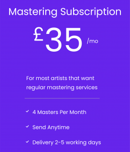 logo text audio-mastering-subscription